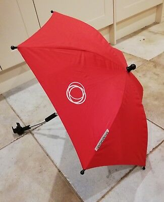 Bugaboo Sun Parasol Uv Umbrella In Red With Clip That Fits Cameleon