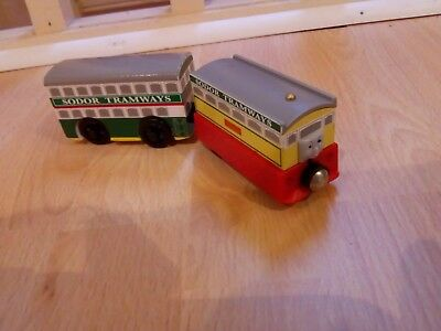 wooden train flora and floras tram compatible with brio bigjigs and thomas