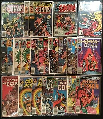 Conan the Barbarian Lot of 21 (VG-NM, Marvel Comics, 1979+)