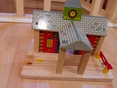 wooden train track station compatible with brio bigjigs and thomas