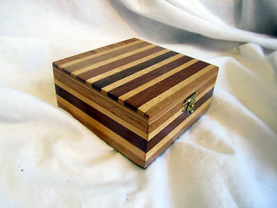 A Vintage Banded Little Wood Box
