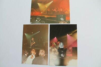3  Photos  Johnny Hallyday  Lors D'un Concert