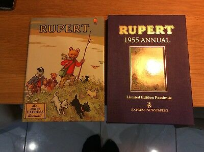 Vintage Rupert Bear Annual 1955 Facsimile Copy With Certificate
