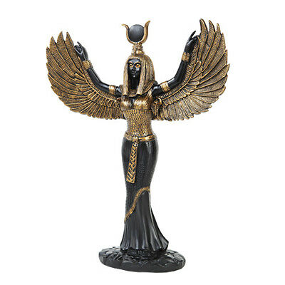 ISIS  Egyptian Goddess Statue Bronze Finish Accents Figurine