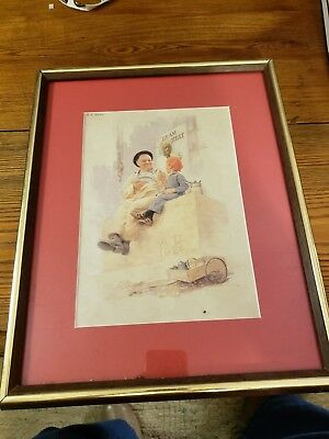 Cream Of Wheat Ad 1924 By E.v.brewer Professionally Framed & Matted