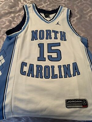 ab03cc05f1d ... best price vince carter north carolina tar heels unc nike jordan brand  white jersey medium beb39