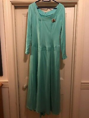 Star Trek the next generation Commander Deanna Troi green dress uniform Costume