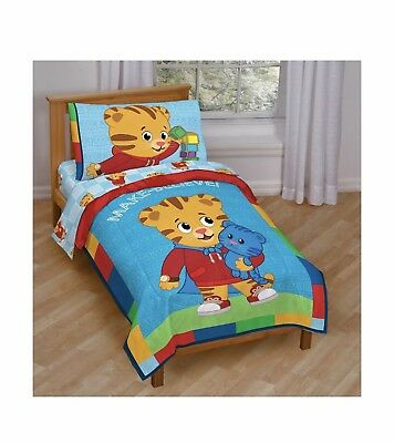 Jay Franco Daniel Tiger Bedding (Blue Toddler Bed) Toddler Bed Set 4 Pieces