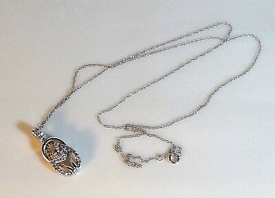 10K WHITE GOLD & PENDANT NECKLACE Weight 2.0 GRAMS SCRAP/WEAR