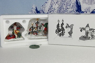 """Department 56 Accessories """"Don't Break The Ornaments - Set of 2"""" NEW"""