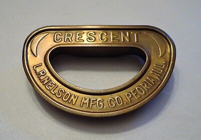 "Vintage Solid Brass ""crescent"" Lawn Sprinkler, Nelson Mfg. Co."
