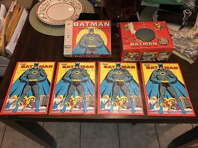 1966 Milton Bradley The Batman Jigsaw Puzzle Game Vintage DC Comics Robin Joker
