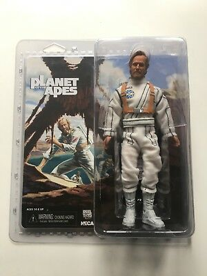 "GEORGE TAYLOR CHARLTON HESTON Planet of the Apes Retro Style 8"" Figure Neca 2014"