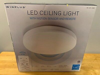 Winplus Led Ceiling Light With Motion Sensor And Remote