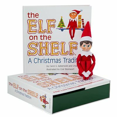 🔥Elf on the Shelf : A Christmas Tradition Blue-Eyed Boy Light Skinned Scout Elf