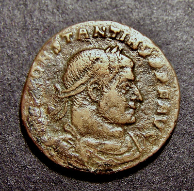 CONSTANTINE I, Sun Worship, Winter Solstice, Old France, 317-318 AD, Roman Coin