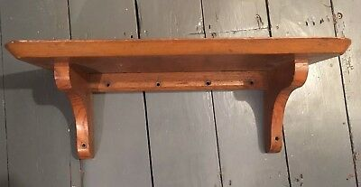 Antique Solid Oak Wall Shelf 1920s-30s Arts & Crafts
