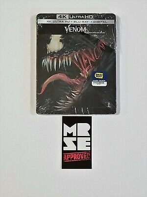 Venom - Steelbook 4K Ultra HD Blu-ray Combo Best Buy Exclusive Marvel New