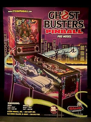 Autographed Stern Ghostbusters Pro Pinball Flyer!