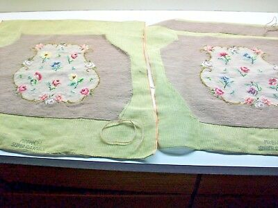 Two Needlepoint Seat Covers Never Used