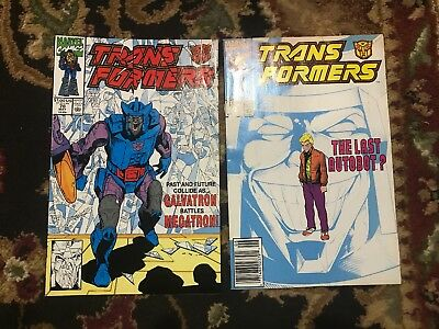 Transformers #78 & 79 Marvel Series Harder To Find Low Print Run Actual Pics