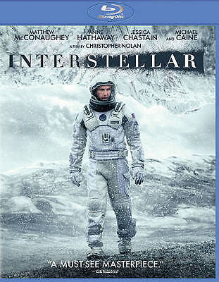 Interstellar (Blu-ray) LIKE NEW DISC + COVER ARTWORK - NO CASE
