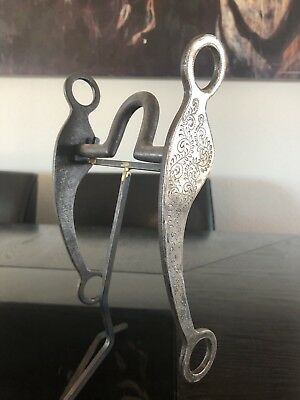 Jim Straight Handmade Sterling Silver Overlaid Mounted Show Bridle Bit