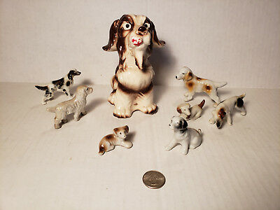 Lot of 8 Vintage Spaniel Dog Figures - Part of a Great Barn Find Collection