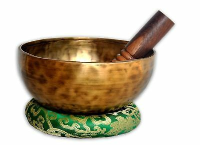 "7"" Hand Hammered Tibetan Meditation Singing Bowl -singing bowl made in Nepal"