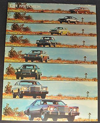 1976 Ford Brochure Mustang II LTD Elite Granada Torino T-bird Maverick Pinto 76