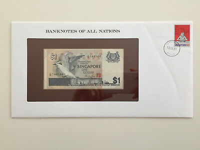 Banknotes of All Nations - Singapore $1 one dollar UNC