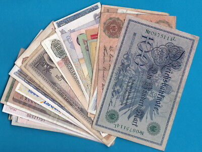 World- Lot of 40 CIRCULATED banknotes, all different