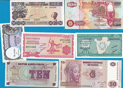 World- Lot of 90 UNCIRCULATED banknotes, all different