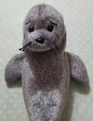 f60d8e0fdb0 Ty Beanie Baby Babies Slippery The Seal 1999 Retired Plush No Hang Tag Gray  Grey