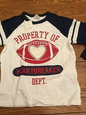 Baby Gap NWT 4T Boys Valentine's Day Heartbreaker Graphic L/S Shirt Top
