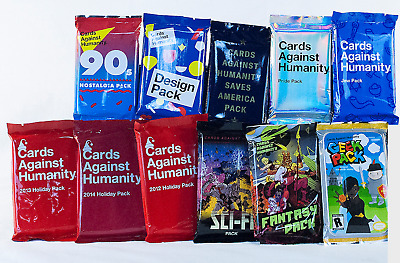Cards Against Humanity MIX & MATCH 5 Expansion Packs (Select from 17 expansions)