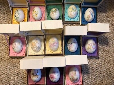 Noritake Bone China Easter Egg Collection 1972-1988 13 Eggs in original boxes