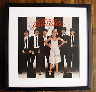 BLONDIE BAND Signed + Framed Parallel Lines Record Album Debbie Harry