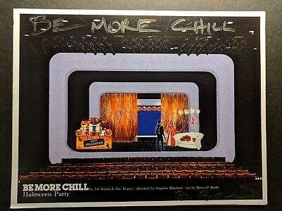 Be More Chill off-broadway musical signed original set design rendering