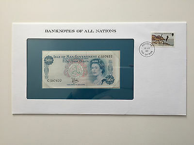 Banknotes of All Nations – Isle of Man 50 pence banknote UNC