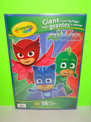 """Crayola Giant Coloring Pages 12.75/""""x19.5/""""-pj Masks"""