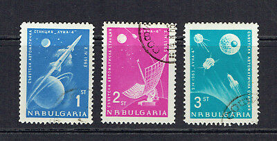 Bulgaria 1963 Lunar Probe Complete Set Of Three Stamps - Fine Used