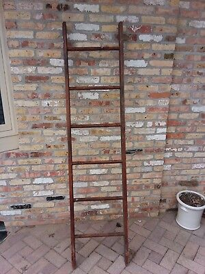 """Decorative Vintage Old Wooden Ladder 6 FT - 6 IN (78"""") - for use in decorating"""