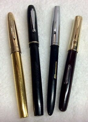 4 Waterman Fountain Pens: Skywriter, Taperite, And 2 Others