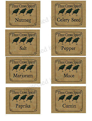 Primitive Farmhouse Vintage Spice Labels! #26 Set #3