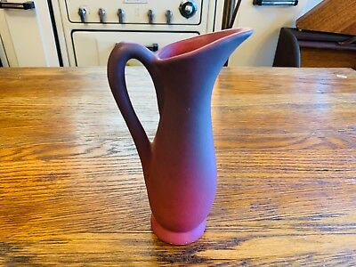 Rare Antique signed Van Briggle Hand Made Art Pottery Matte Oxblood Ewer picther