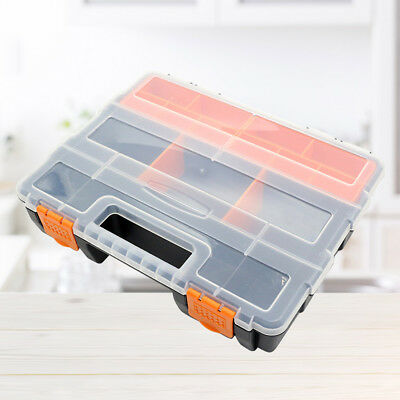 1pc Storage Box Plastic Container Component Storage Box for Craft Tools Hardware