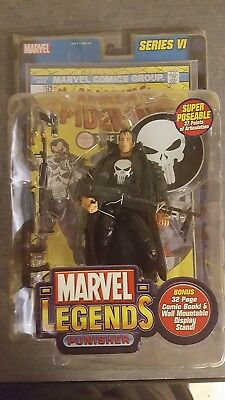 Punisher MARVEL LEGENDS 2004 action figure series VI with comic book NIB