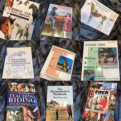 11 Assorted Horse Equestrian Books Teaching Riding Care Equine Job lot - Bargain