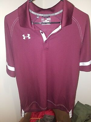 Men's Clothing New $59 Under Armour Mens Heatgear Hoodie Shirt Maroon lightweight **l@@k** Med Clothing, Shoes & Accessories